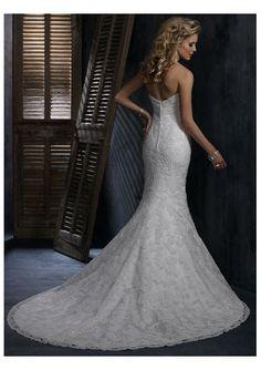 Hot Sell Beading Organza mermaid Wedding Dress sweetheart Sleeveless Chapel Train