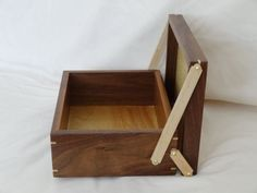 Wood Jewelry Box / Keepsake Box / Tea Box from by CrypticWoodworks