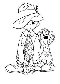 *Precious Moments Coloring Pages