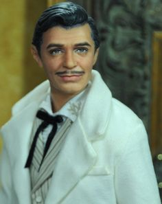 OOAK Clark Gable as Gone with The Wind Rhett Butler Doll Repaint by Noel Cruz | eBay