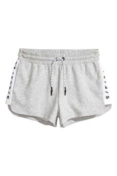 Short sports shorts in bonded sweatshirt fabric with an elasticated drawstring waist and side pockets. Sporty Outfits, Cool Outfits, Summer Outfits, Comfy Shorts, Cute Shorts, Sport Shorts, Gym Shorts Womens, Teenage Girl Outfits, Workout Attire