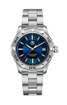 TAG Heuer Watch, Men's Swiss Aquaracer Stainless Steel Bracelet - Watches - Jewelry & Watches -Love this one! Stainless Steel Watch, Stainless Steel Bracelet, Limited Edition Watches, Jewelry Showcases, Tag Heuer, Luxury Watches, Quartz Watch, Bracelet Watch, Watches For Men