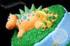 Pet dinosaur birthday cake