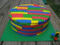 Lego Brick Circular Cake