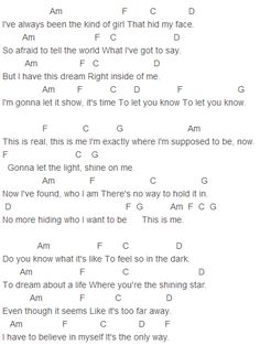 Camp Rock - This is Me Chords Capo 1