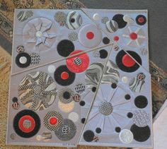silver and black quilt