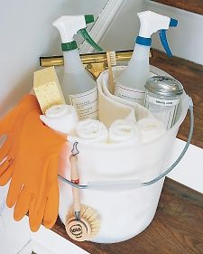 "Martha Stewarts ""Shortcuts & solutions"" for spring cleaning. Cleaning basics, clever cleaning tricks, spring cleaning products, spring cleaning organizing tips & homekeeping tools."