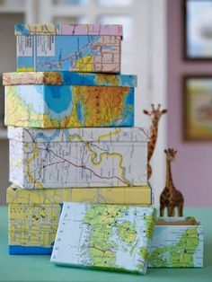 Craft Ideas With Maps | Craft ideas...Did this for the kiddos a few years ago, they loved it!
