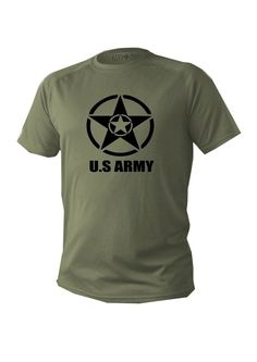 2cfc4518 T shirt Mens dry fit short sleeve green olive usa army military shirts man  new #