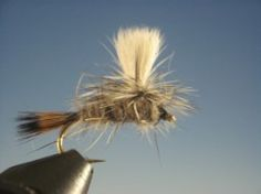 Hare's Ear Parachute trout fly available in sizes 12 to 20