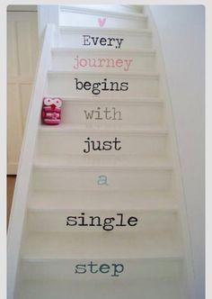 Toda viagem começa com apenas um único passo.
