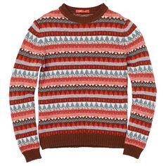 Tiny Circus Sweater – Red/Grey