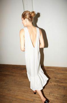 White Linen Carmen Dress