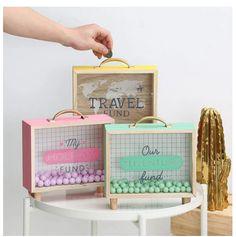 Bedroom Storage Boxes, Box Bedroom, Money Saving Box, Money Box, Savings Box, Handmade Gift Tags, Wooden Ornaments, Baby Decor, Inspirational Gifts