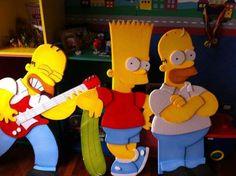 Los Simpsons Adorno De Plancha De Tecnopor 3 Figuras