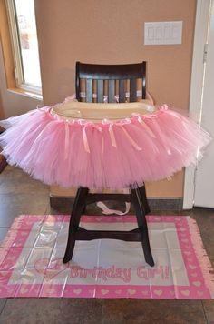 High Chair Tutu Decoration