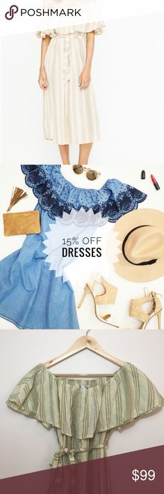 "NWT FAITHFULL Majorca Uptown Stripe Dress Sz 6 NWT FAITHFULL The Brand Majorca Uptown Stripe in size 6.   Chest: 24"" Length: 40.75"" Faithfull the Brand Dresses Maxi"