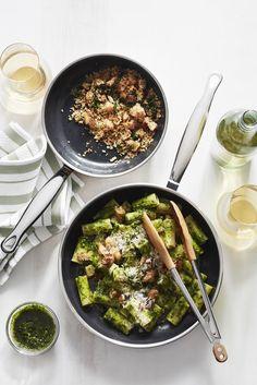 Rigatoni with Kale-Miso Pesto Red Miso, Large Fries, Rigatoni, A Food, Food Type, Fall Recipes, Kale, Pesto, Yummy Treats
