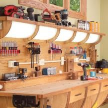 Build the ultimate DIY workbench - with lights, extra powerpoints, slide-out space and a dust extraction system | Reader's Digest