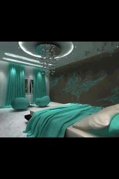 Cute green bedroom