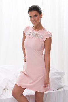 Luxury Pink Cotton Nightdress