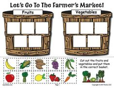 FREE Printable Fruits and Vegetables Sorting Worksheet! is part of Vegetable crafts Help your kiddos learn which foods are fruits and which ones are vegetables with this fun Farmer& Market sorting - Free Preschool, Preschool Worksheets, Preschool Activities, Preschool Food, Preschool Learning, Teaching, Nutrition Activities, Science Classroom, Kids Nutrition