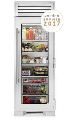 "True Residential - 30"" Glass Door Refrigerator Column"