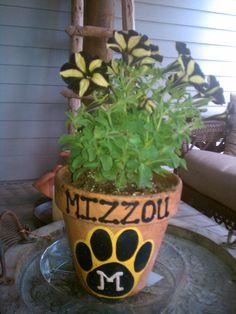 Another way to show you're the Mizzou fan... super cute idea