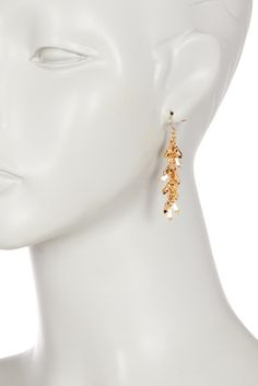 Image of Catherine Catherine Malandrino Sunburst Bar Drop Earrings