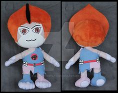 """a custom plush of WilyKit (from """"ThunderCats""""), by DeviantArt user A-chan--Creations"""