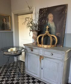 Caatje Antiques and Brocante ( French Decor, French Country Decorating, Shabby Vintage, Shabby Chic, Dining Room Dresser, Vintage Vignettes, French Style Homes, Welcome To My House, Antique House