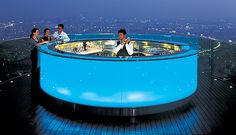 Sky Bar @ Sirocco.  Suspended in the sky on the 63rd floor of The Dome at State Tower, the Skybar is one of the world's highest open air bars, overlooking a panoramic view of Bangkok and the Chao Phraya River.