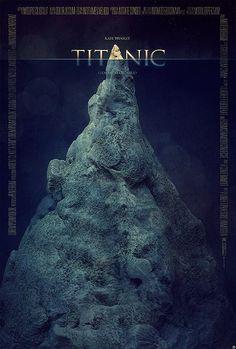 Titanic movie poster by Tomasz Opasinski Titanic Movie Poster, Best Movie Posters, Minimal Movie Posters, Cinema Posters, Awesome Posters, Poster S, Movie Poster Art, Epic Movie, Love Movie