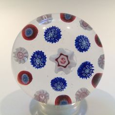 Rare Antique 19Th C. French Grenelle  Complex Millefiori Art Glass Paperweight