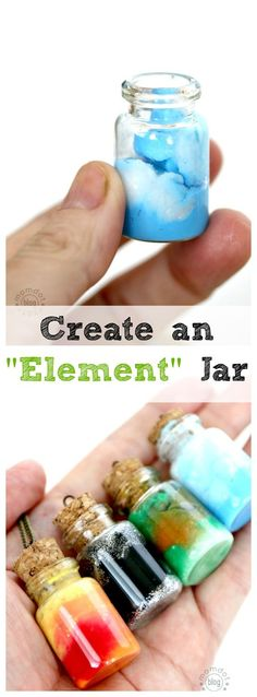 Element Jars: Create Sun, Moon, Earth, and Sky in these fun DIY Element Jar Necklaces Tutorial, picture instructions, Nebula Jar: