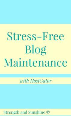 Stress-Free Blog Maintenance | Strength and Sunshine @RebeccaGF666 #GatorPress