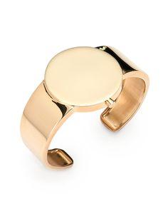 Maison margiela Watch Frame Cuff Bracelet in Gold