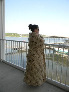 """The """"Lost in You"""" Chunky Knit Blanket pattern - Pattern Only - permission to sell what you make on Etsy, $5.00"""