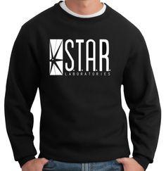 The Flash DC Barry Allen Laboratories Star Labs Black Sweatshirt