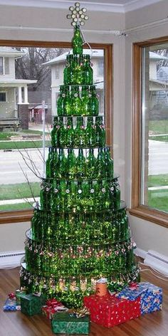 Beer Bottle Christmas Tree ...... For the guys at the shop