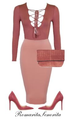 """""""Chic"""" by romaritasenorita ❤ liked on Polyvore featuring Topshop and Gianvito Rossi"""