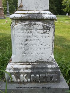 #TFS Photos (3/4)-The Metz Marker at the Spring Grove Cemetery, Cincinnati, Ohio (c) The Funeral Source, photo: Ken Naegele. http://www.thefuneralsource.org/cemohhamco.html