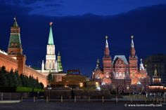 Red Square at night, Moscow - Russia