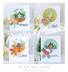 Papertrey Ink - Scene It: Skyscapes Die Collection (set of 3): Papertrey Ink Clear Stamps Dies Paper Ink Kits Ribbon