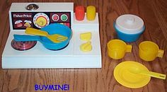 We spent hours making imaginary culinary delights with this classic Fisher Price toy.
