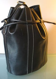 Lancel Made in France Gigantic Bucket Tote. Vintage PursesPouchWalletsWomen s  ... f0b940bb63