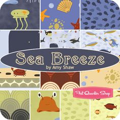 Sea Breeze Fat Quarter Bundle Amy Shaw of Insights for Wilmington Prints - Fat Quarter Shop