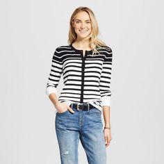 Women's Cardigans Black/White XL - Merona, Black/Ivory