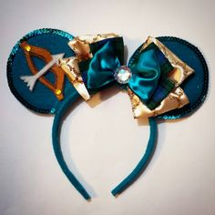 Merida Custom Made Minnie Mouse Ears by MakeMeMinnie on Etsy https://www.etsy.com/listing/217254926/merida-custom-made-minnie-mouse-ears