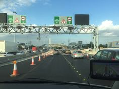 Heavy congestion at the Dartford crossing.